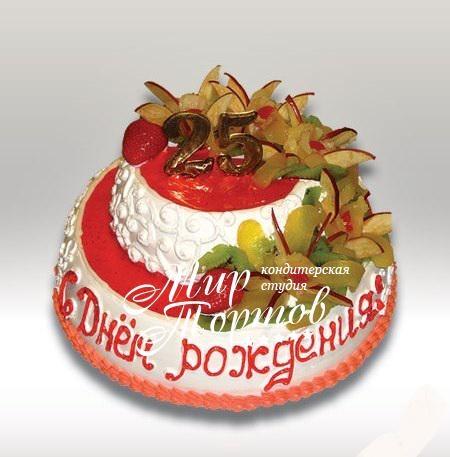 Вкусный торт мужчине на 25 лет   фото 015