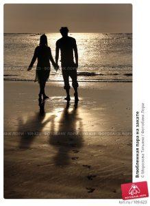 Влюбленная пара на закате   фото 026