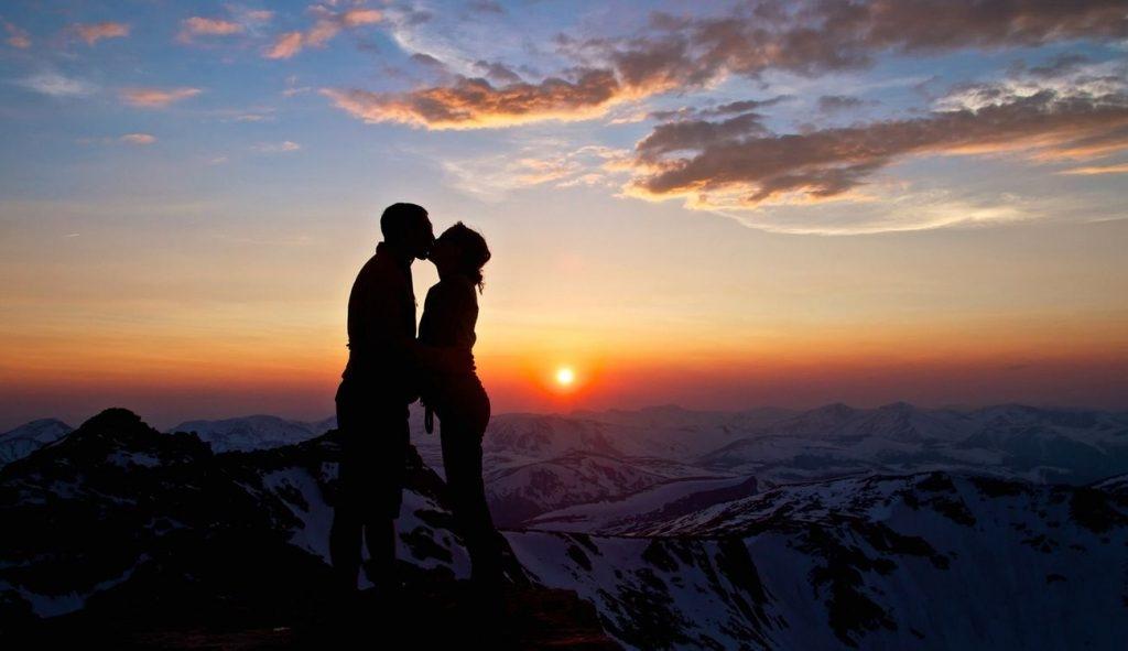 Влюбленные картинки на закате   подборка фото 011