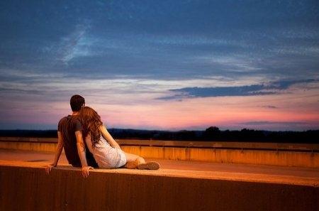 Влюбленные картинки на закате   подборка фото 025