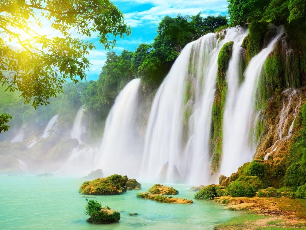 Водопады на телефон заставки   лучшие обои (4)