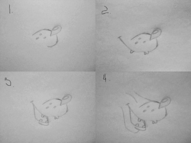 Волк из Ну погоди   рисунок карандашом поэтапно (20)