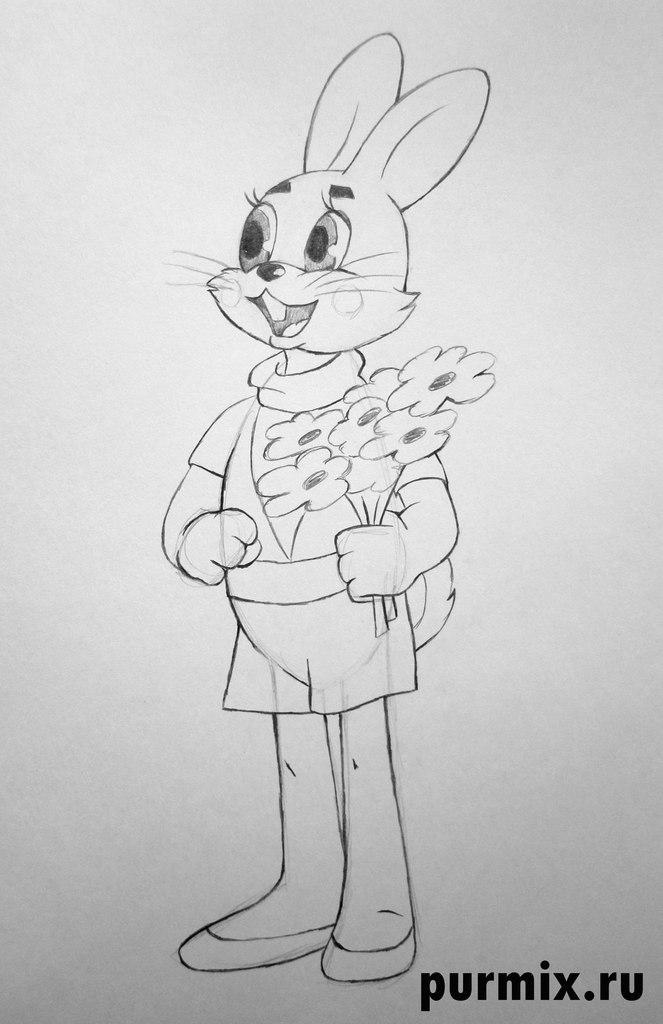 Волк из Ну погоди   рисунок карандашом поэтапно (22)