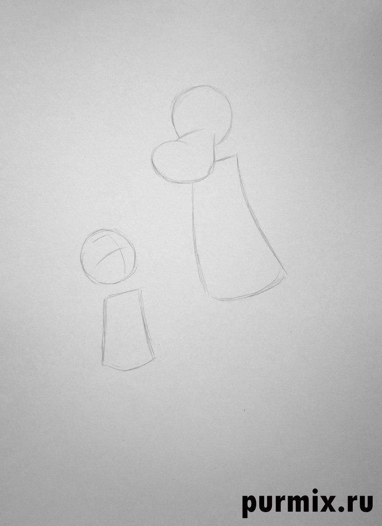 Волк из Ну погоди   рисунок карандашом поэтапно (7)