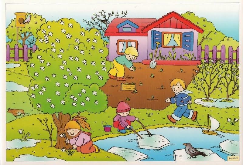 Времена года весна картинки для детского сада