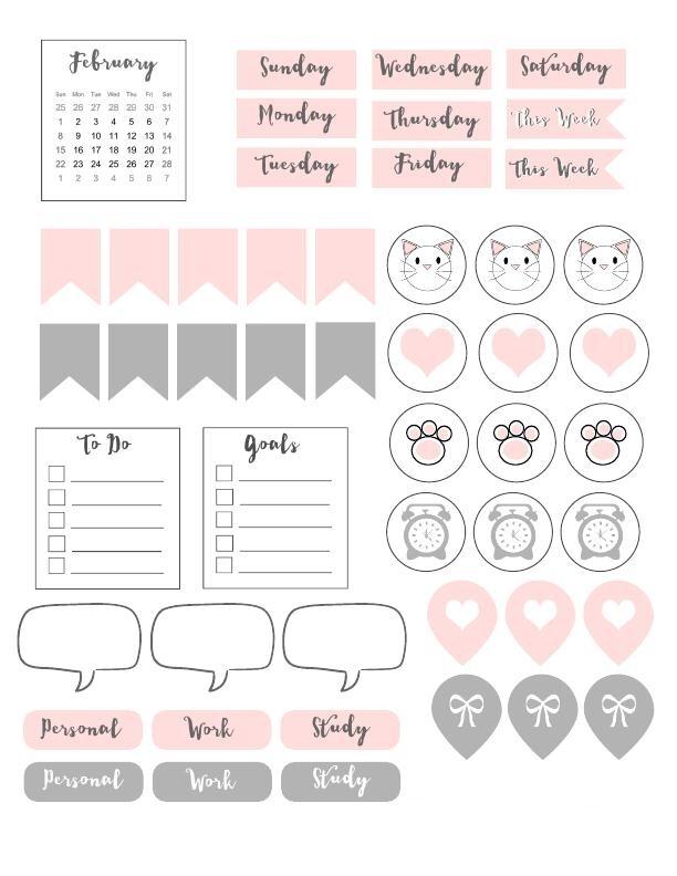Все для личного дневника   картинки распечатать черно белые (14)