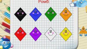 Геометрические фигуры для детей   картинки с названиями (1)