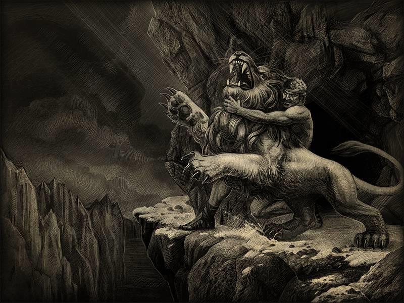 Геракл и лев картинки   подборка 017