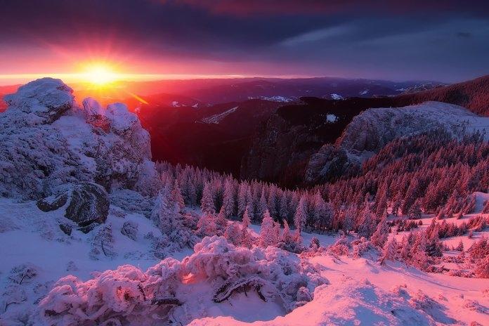 Горы и закат картинки   красивые фото 021