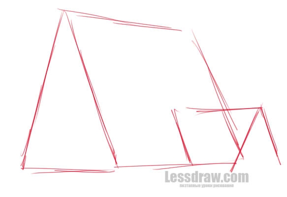 Нарисовать рисунок гравити фолз дом