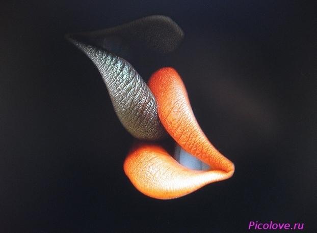 Губы мужские поцелуй картинки 018