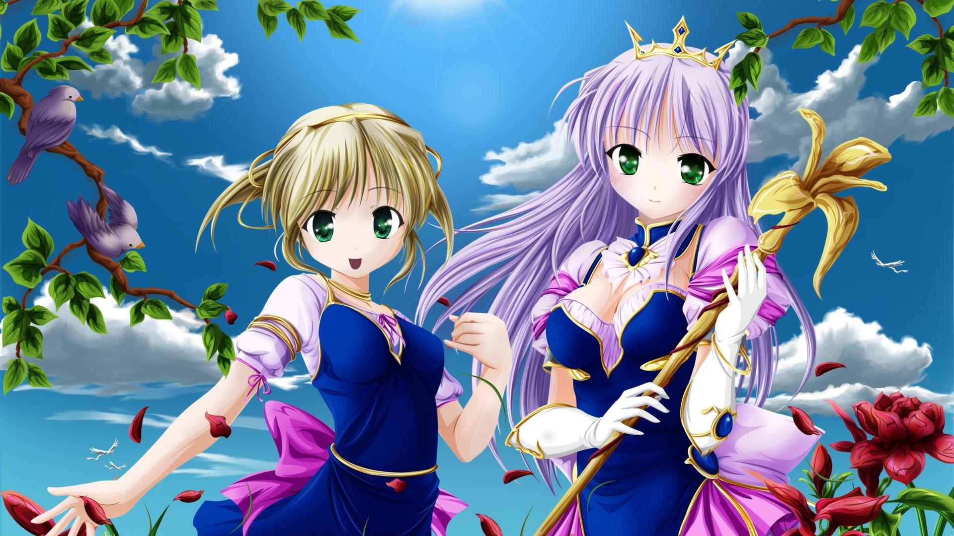 Девочки аниме на рабочий стол обои (3)