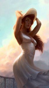 Девушка арт в шляпе   красивые картинки 023