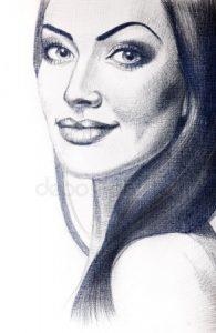 Девушка брюнетка нарисованная картинки и рисунки024