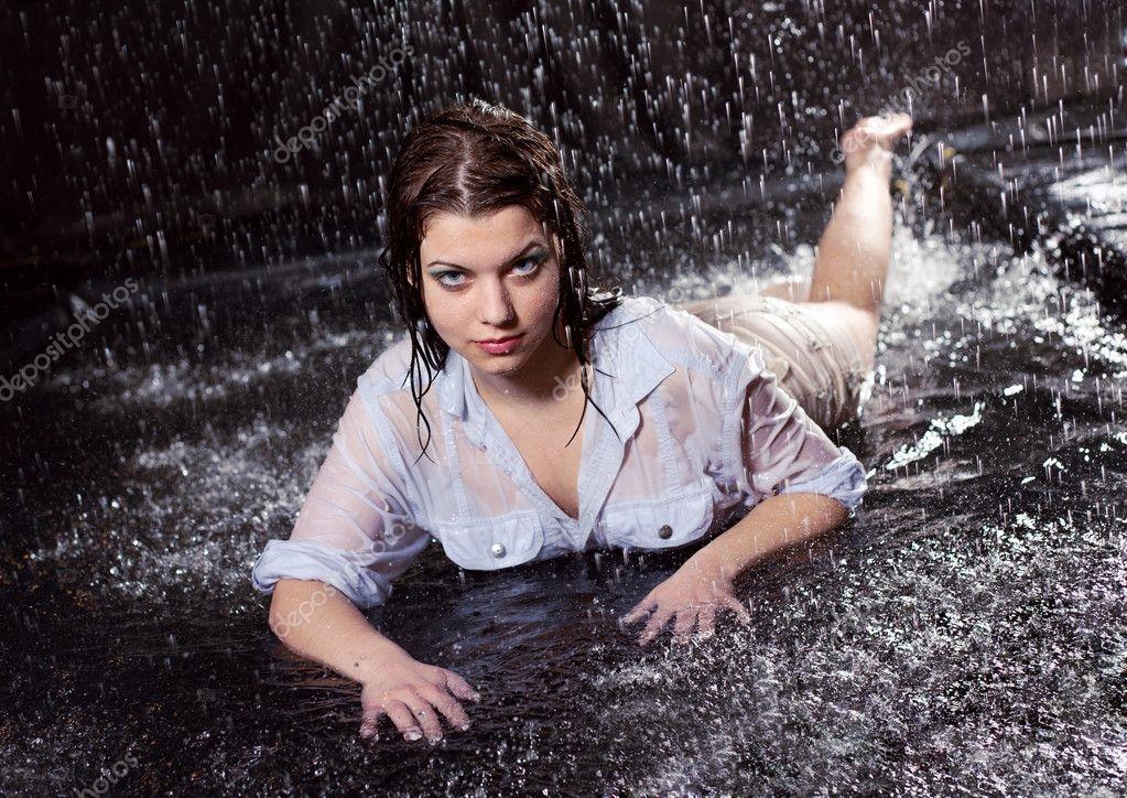 Девушка и дождь   красивые фото (12)