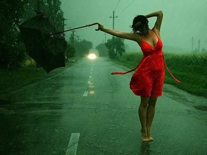 Девушка и дождь   красивые фото (14)