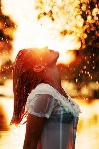 Девушка и дождь   красивые фото (2)