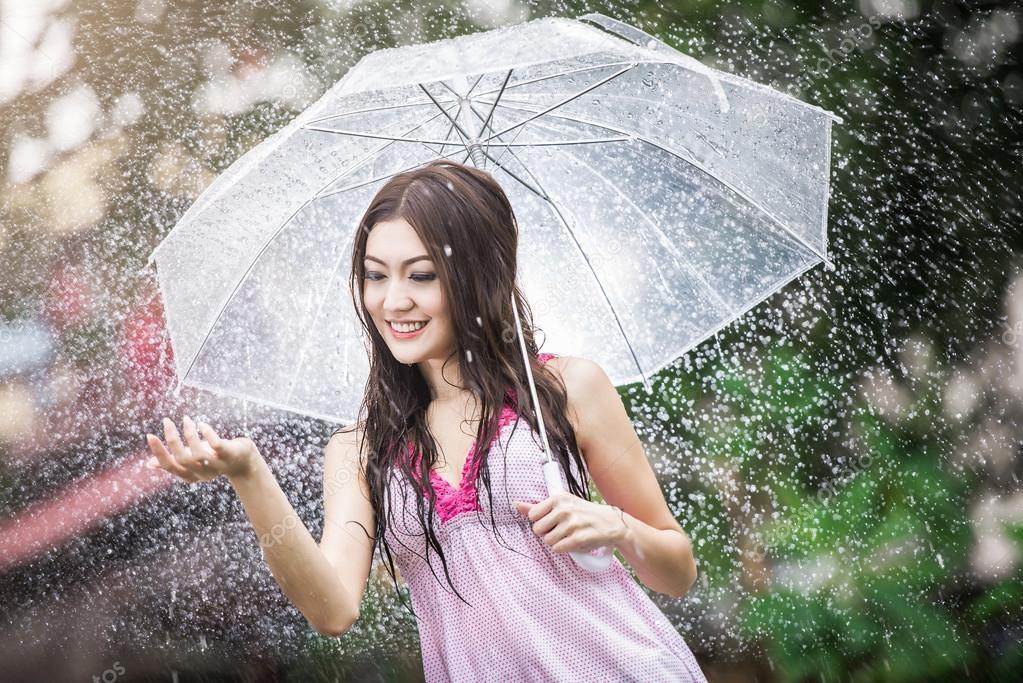 Девушка и дождь   красивые фото (22)