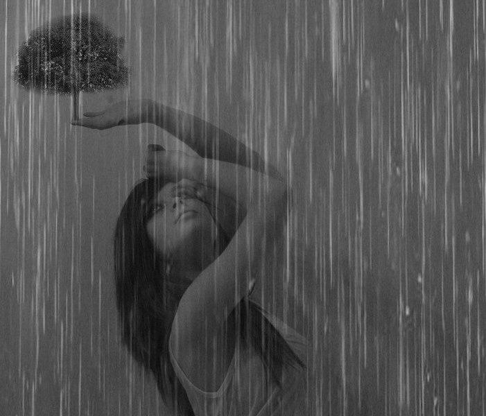 Девушка и дождь   красивые фото (24)