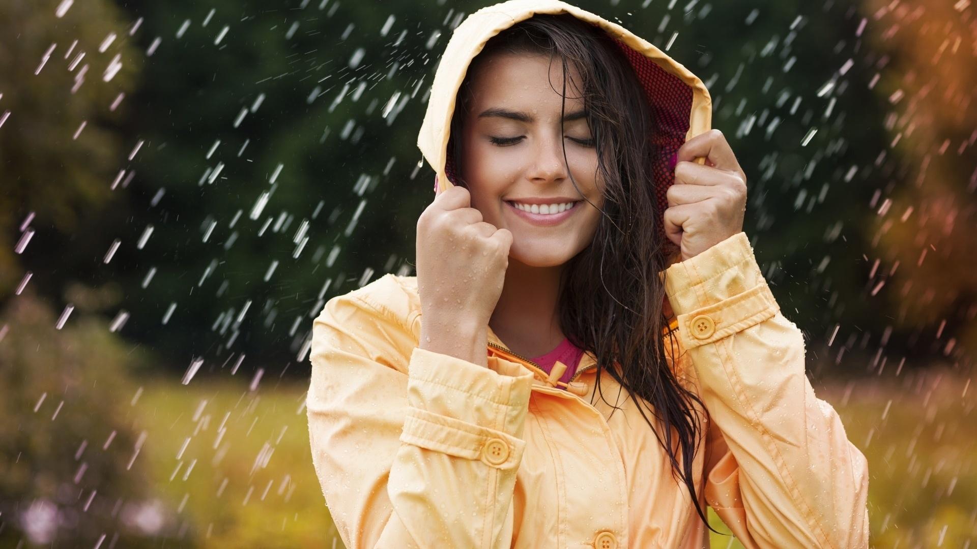 Девушка и дождь   красивые фото (5)