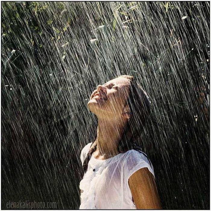 Девушка и дождь   красивые фото (8)