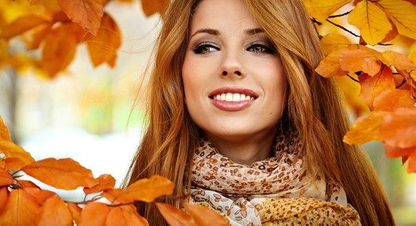 Девушка и осень картины   подборка008
