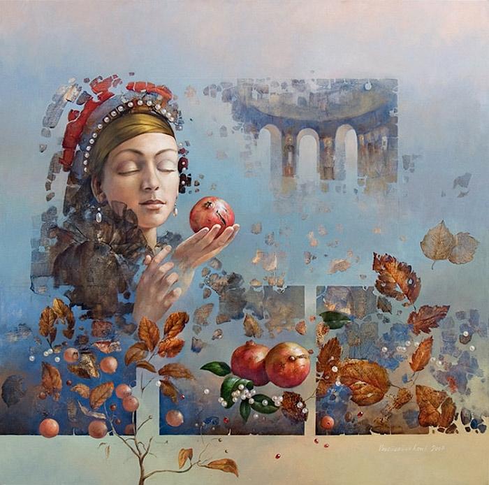 Девушка и осень картины   подборка011
