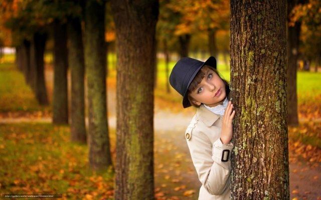 Девушка и осень картины   подборка015
