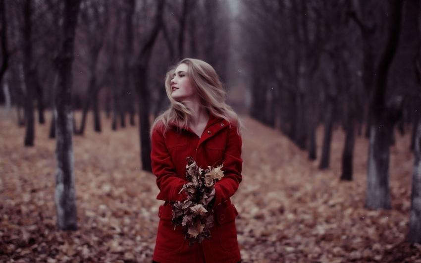 Девушка и осень картины   подборка019