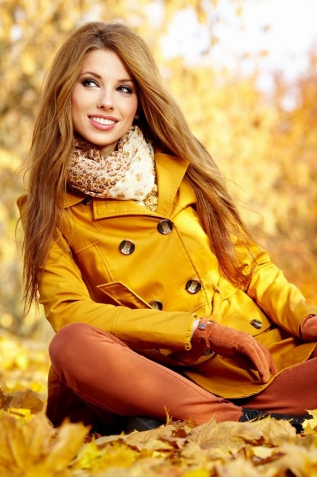Девушка и осень картины   подборка023