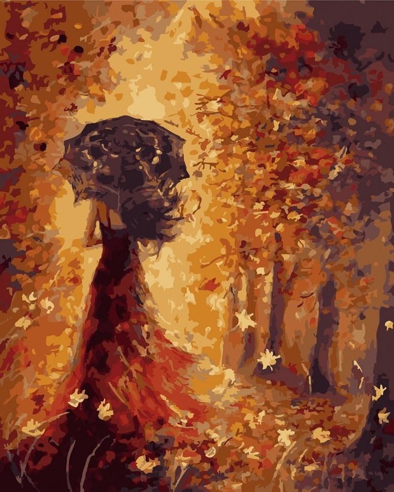 Девушка и осень картины   подборка026