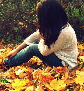 Девушка и осень на аватарку   фото 026