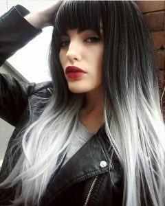 Девушка с черными волосами и с челкой   фото (25)