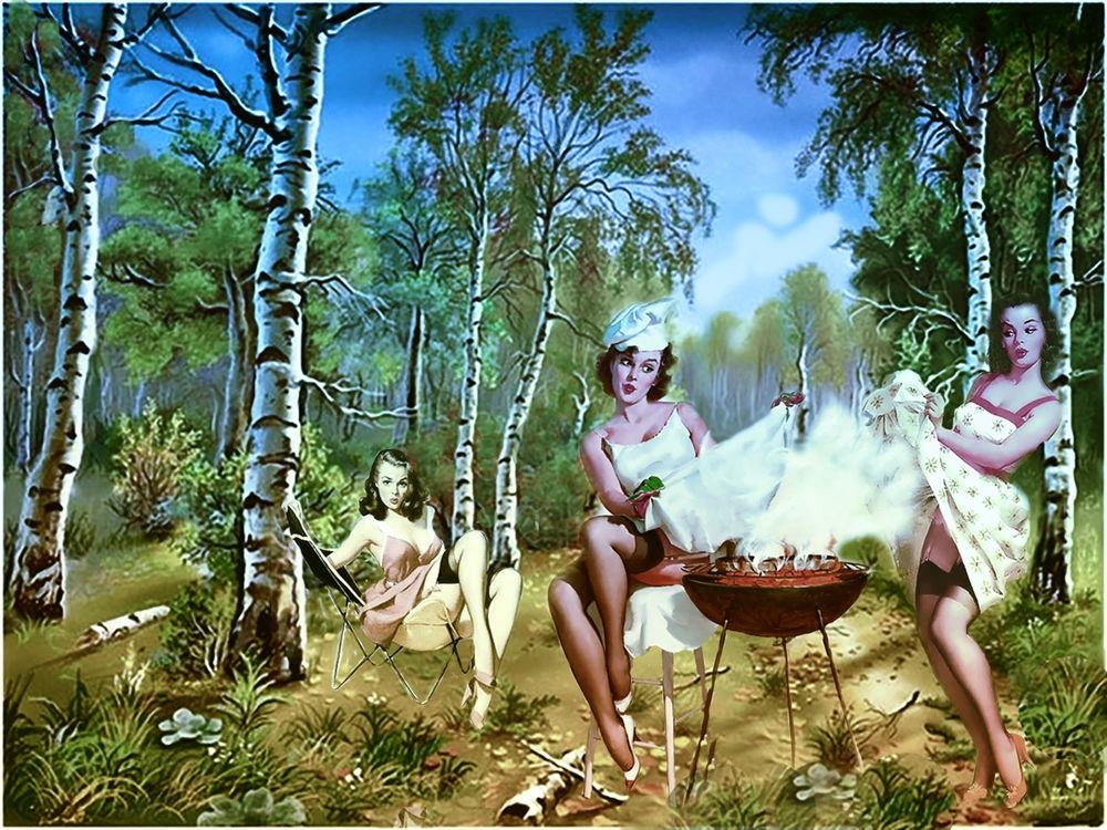 Девушки на шашлыках фото027