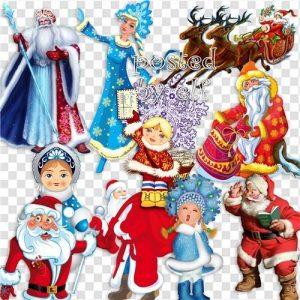 Дед Мороз и Снегурочка png картинки 024