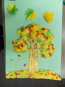 Дерево объемная аппликация из бумаги   картинки 026