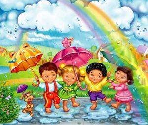 Дети и дождь картинки и рисунки 029