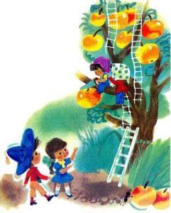 Дети собирают яблоки картинки и рисунки 021