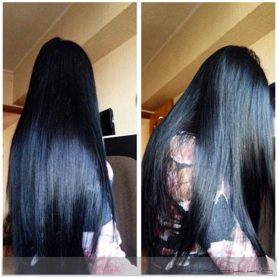 Длинные волосы черные со спины фото 002