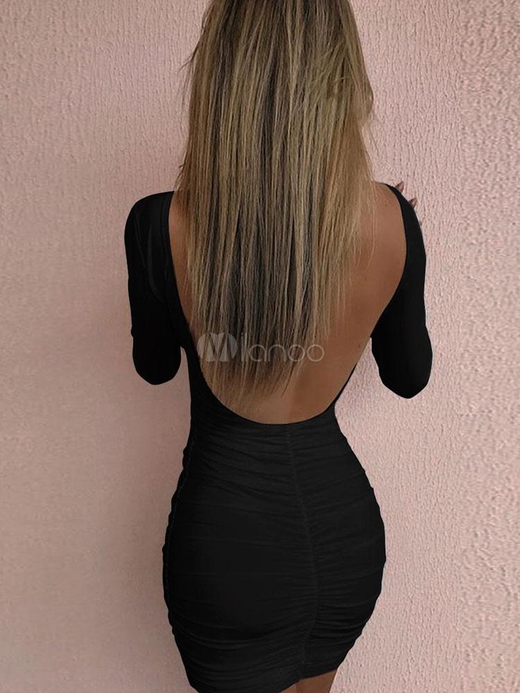 Длинные волосы черные со спины фото 007