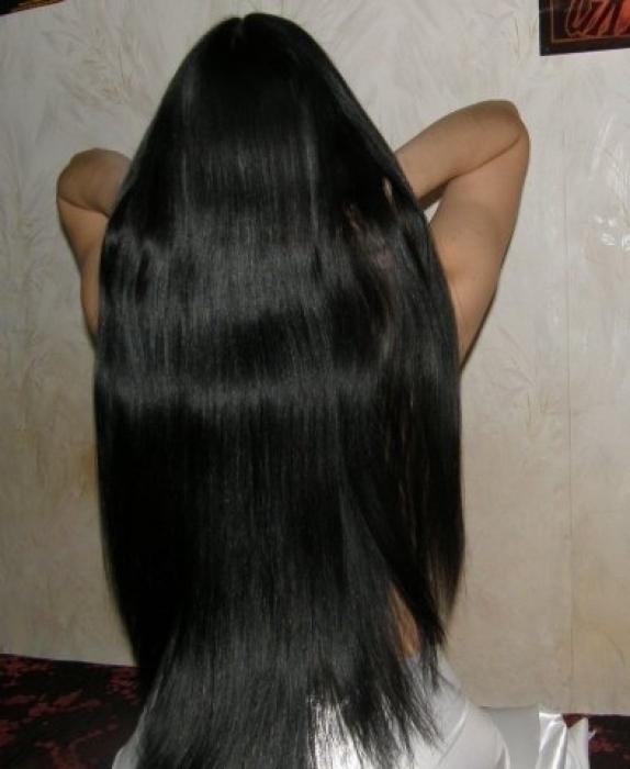 Длинные волосы черные со спины фото 008