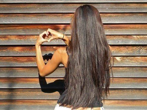 Длинные волосы черные со спины фото 009