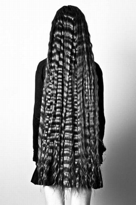 Длинные волосы черные со спины фото 011