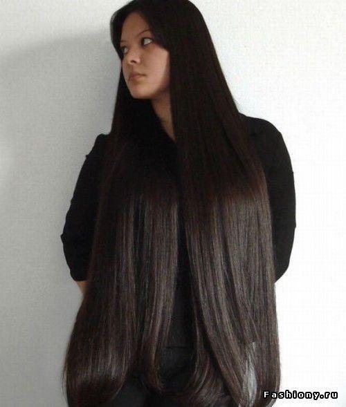 Длинные волосы черные со спины фото 021
