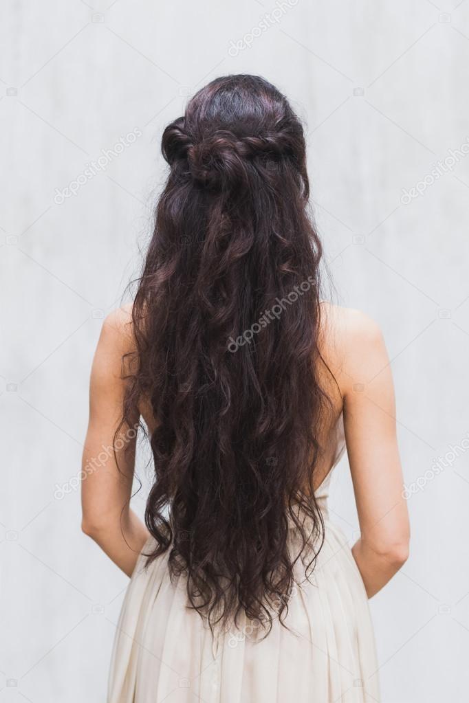 Длинные волосы черные со спины фото 022
