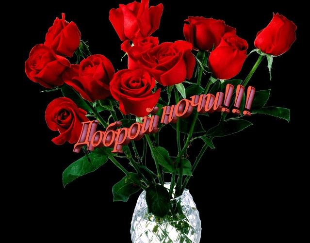 Доброй ночи цветы картинки и открытки004