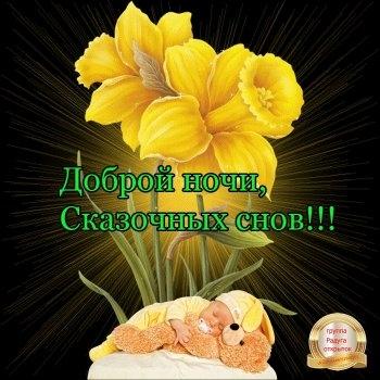 Доброй ночи цветы картинки и открытки005