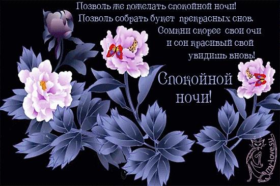 Доброй ночи цветы картинки и открытки009