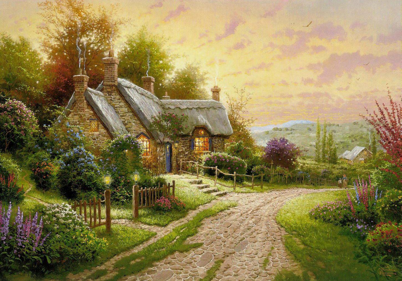 Картинки на рабочий стол деревенские дома
