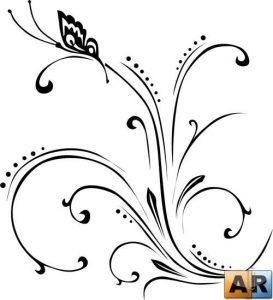Завитки графика трафареты   картинки и рисунки027